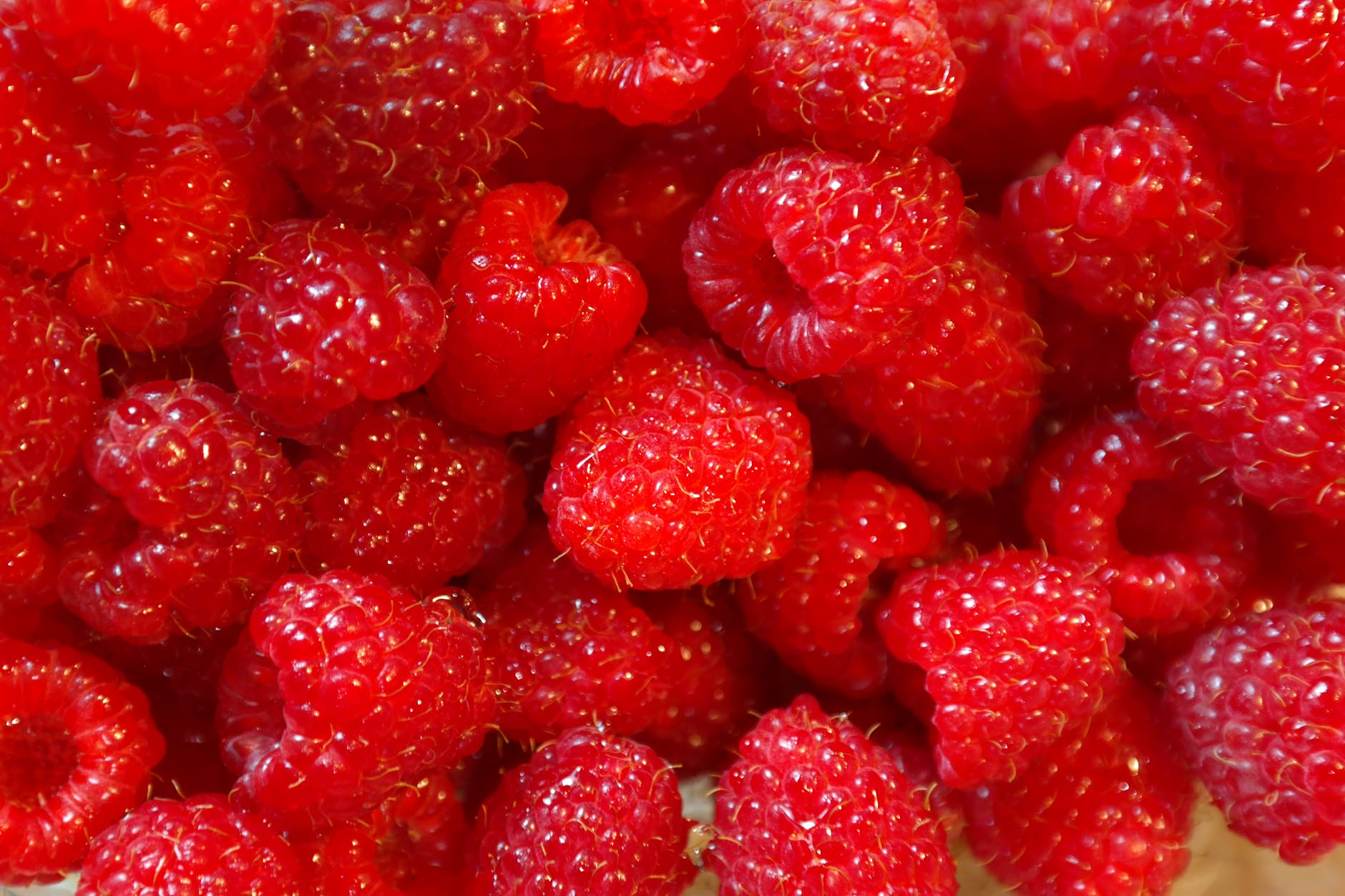 healthy red fruits raspberries